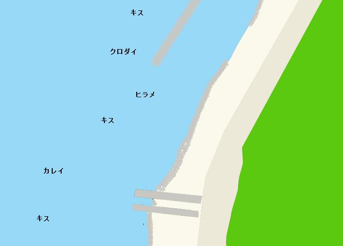 西の浜のポイント