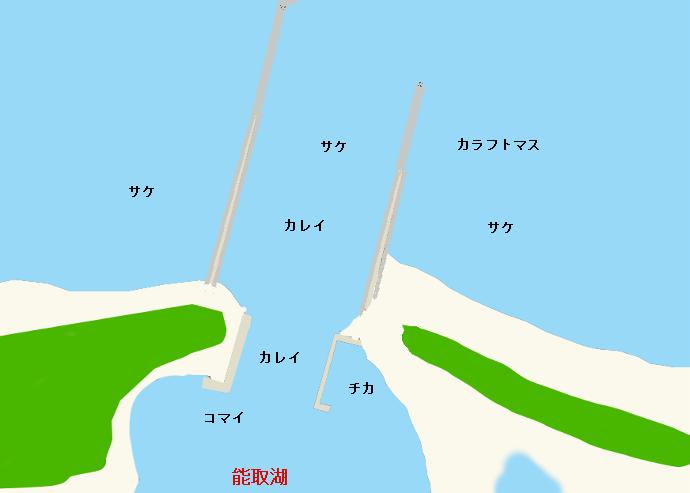 能取湖口のポイント