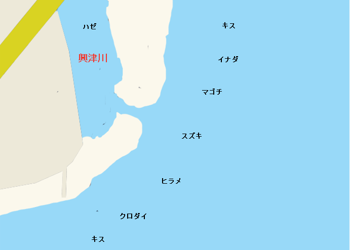 興津川河口ポイント図
