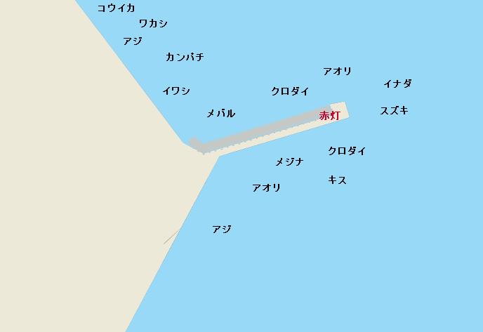 御前崎港赤灯堤防のポイント