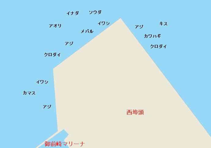 御前崎港西埠頭ポイント図