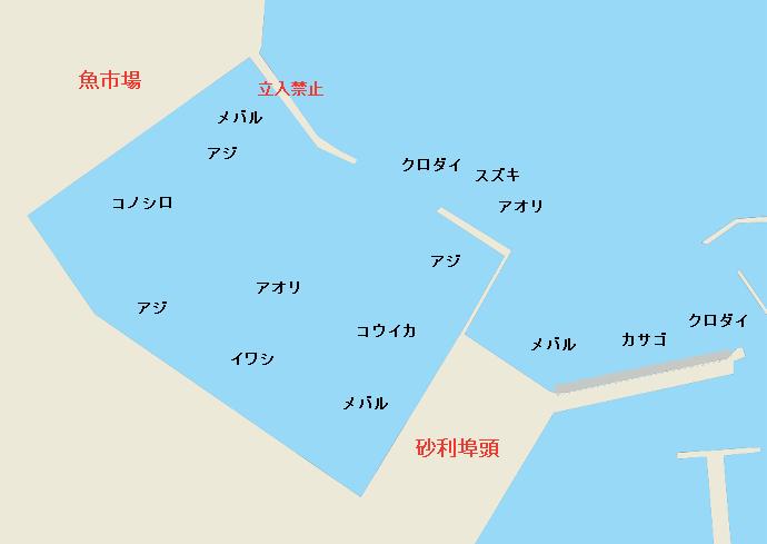 御前崎港魚市場・砂利埠頭のポイント