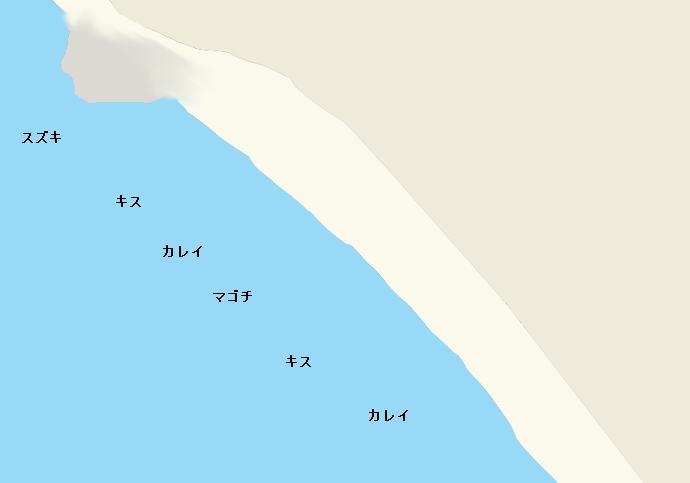 小野浦海岸ポイント図