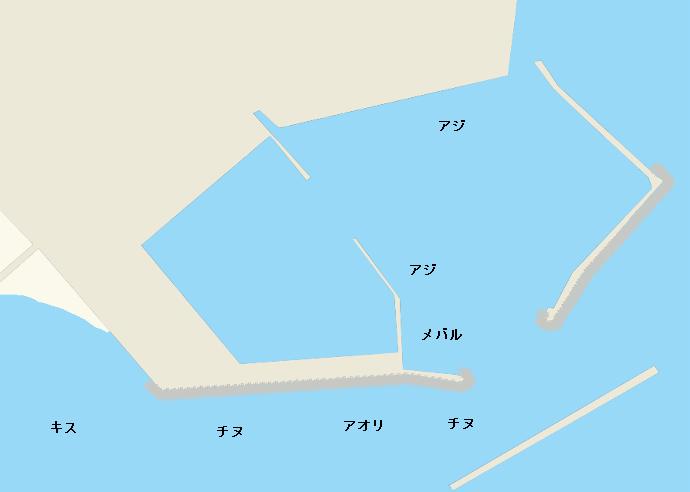 志賀島漁港ポイント図