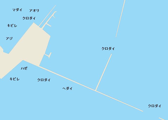 清水港貯木場付近のポイント