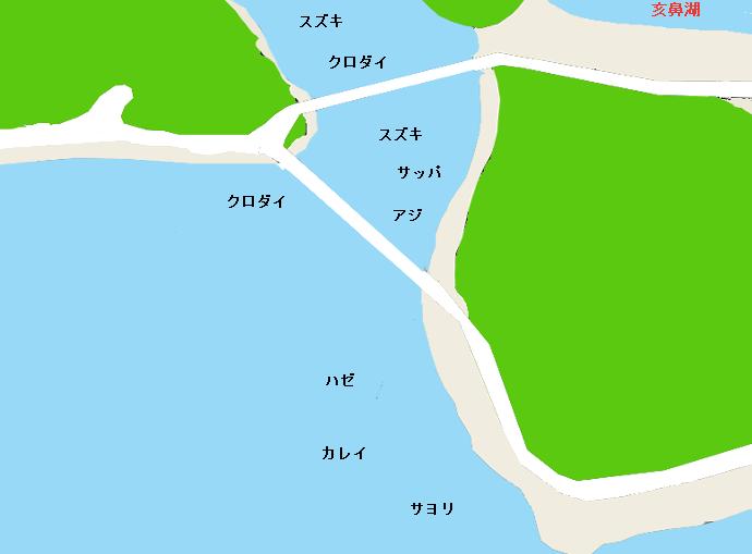 浜名湖瀬戸橋周辺のポイント