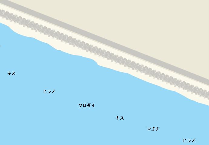 白羽海岸ポイント図