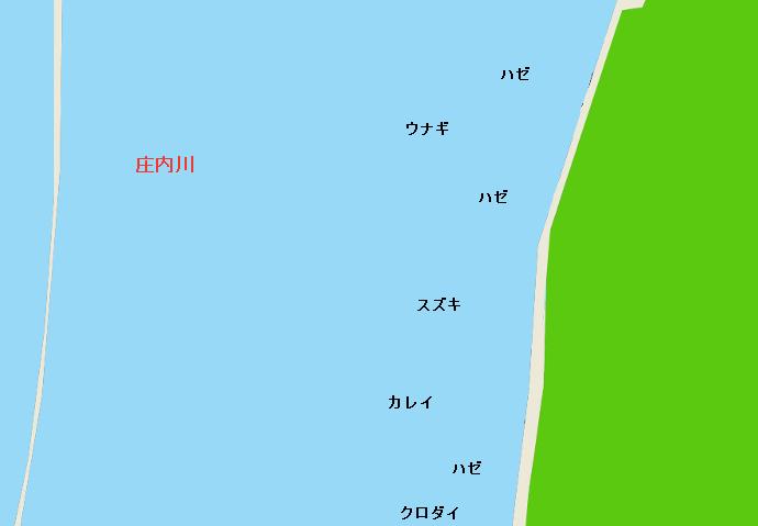 庄内川河口ポイント図