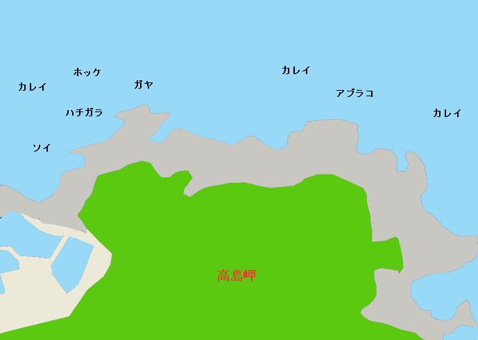 高島岬ポイント図