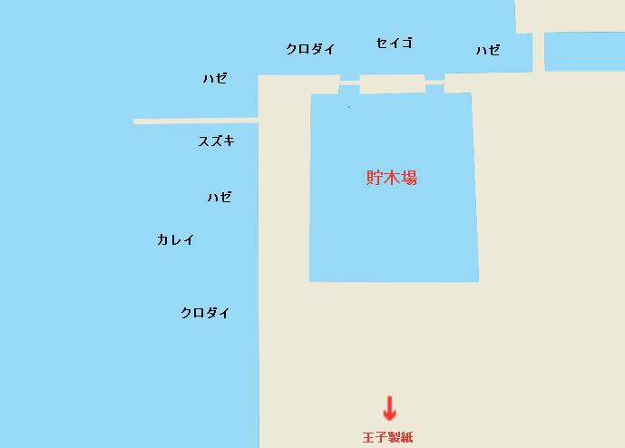 飛島埠頭ポイント図