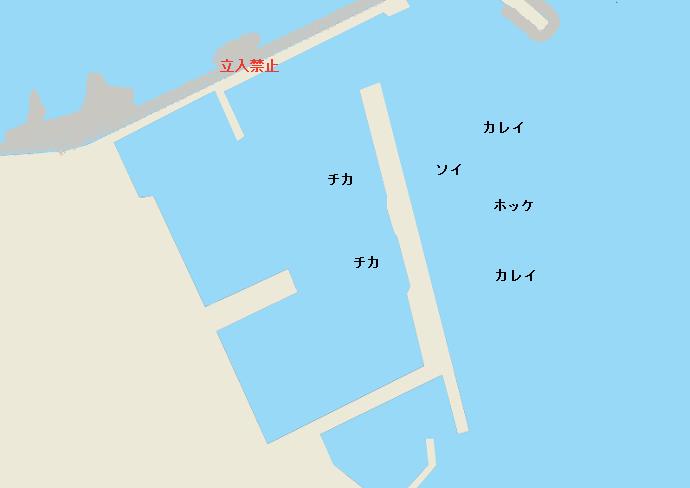 余市川河口漁港ポイント図