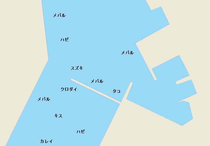 常滑港ポイント図