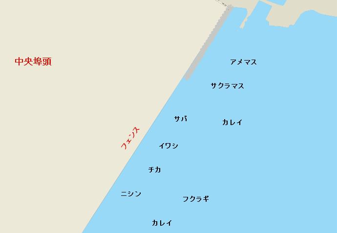 苫小牧東港中央埠頭ポイント図