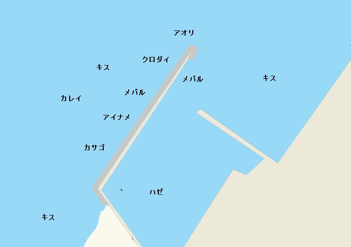 宇津江港ポイント図