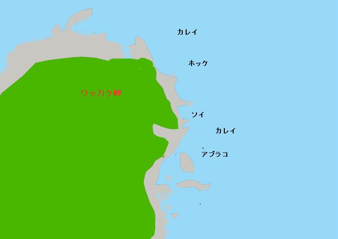 ワッカケ岬ポイント図