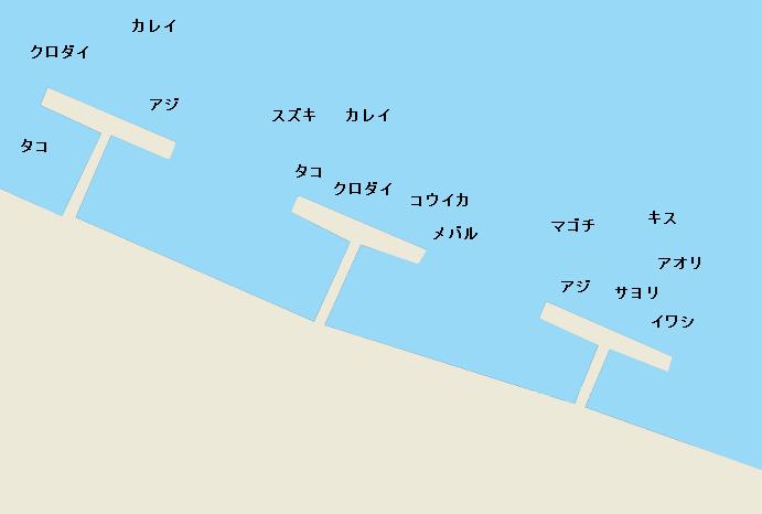 浜名湖新居海釣り公園のポイント