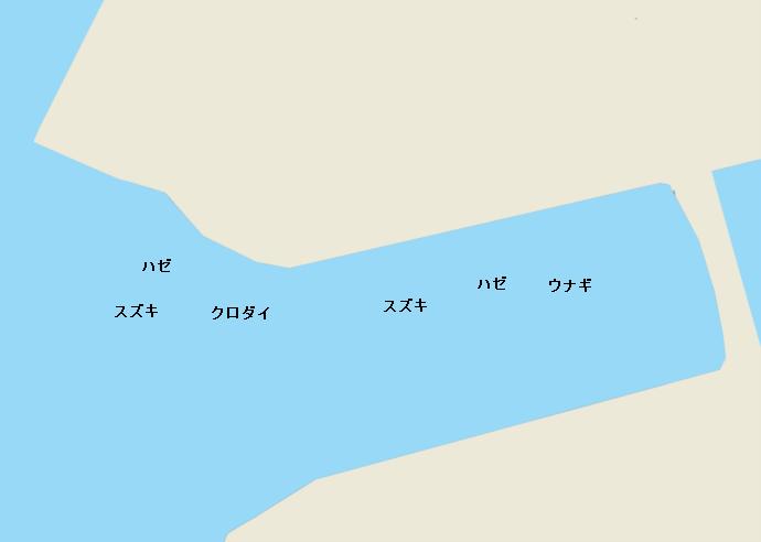 山崎川河口のポイント