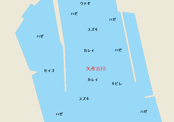 矢作古川河口のポイント