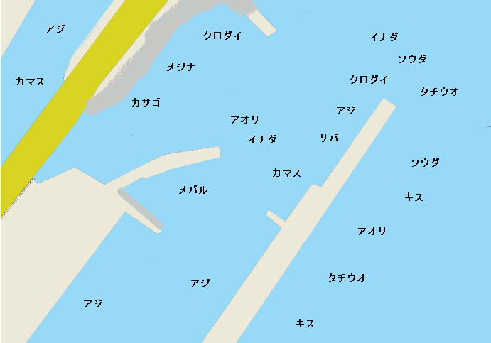 由比港のポイント