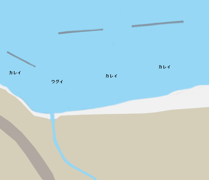 銭函海岸ポイント図