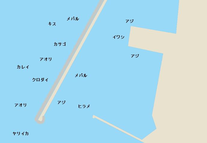 魚津補助港ポイント図