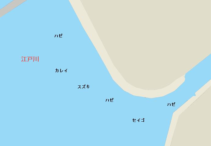 江戸川河口ポイント図