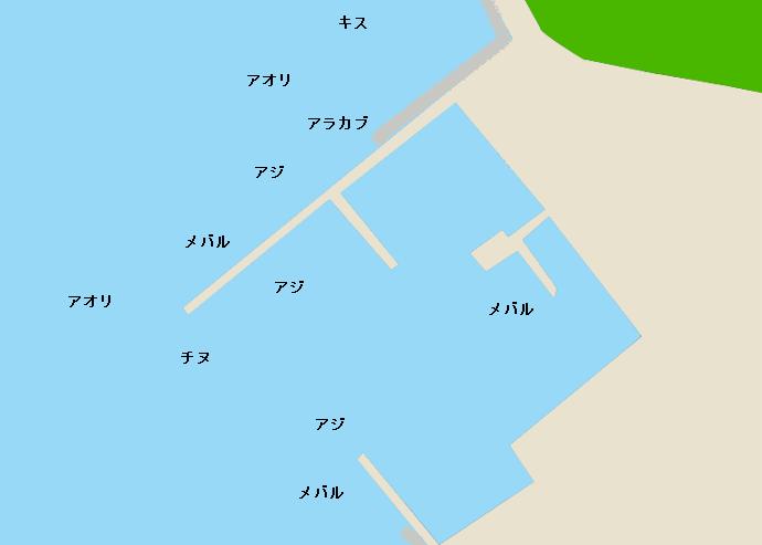合串港ポイント図