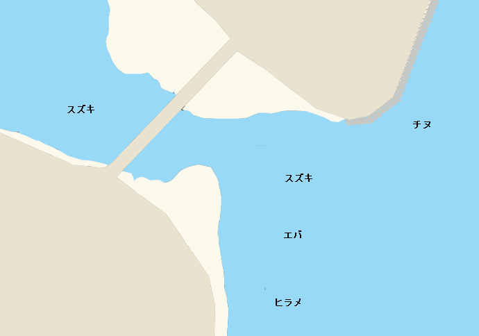 広渡川河口ポイント図