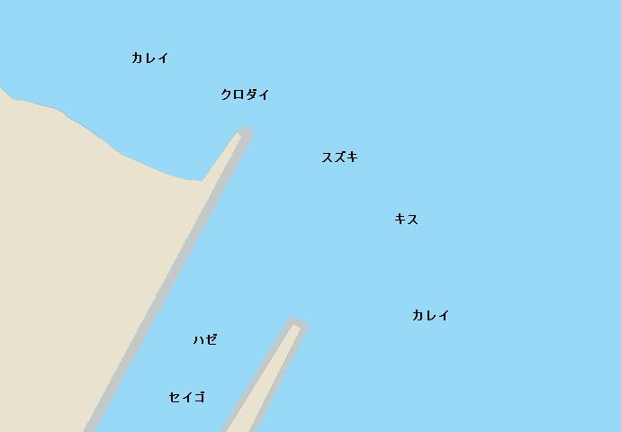 井ノ口川河口ポイント図