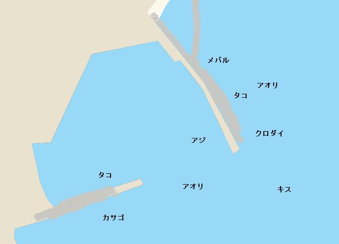 庵漁港ポイント図