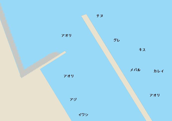 岩屋港のポイント