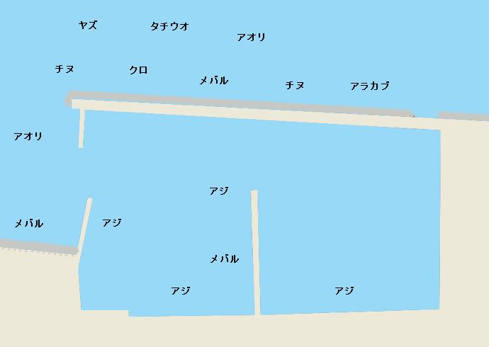 亀川漁港のポイント