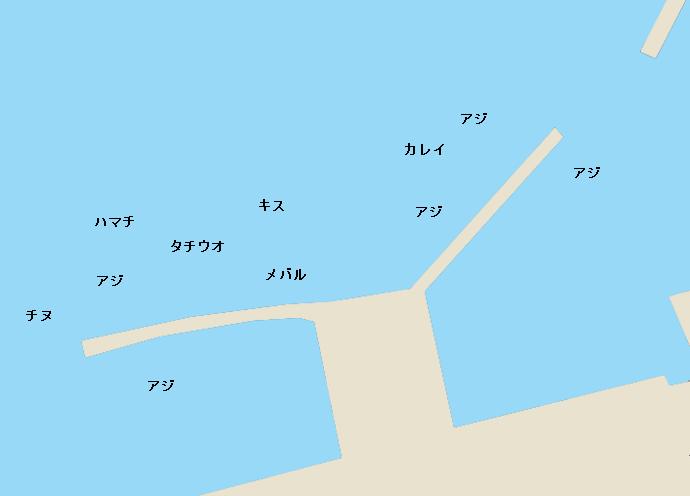 上関漁港ポイント図