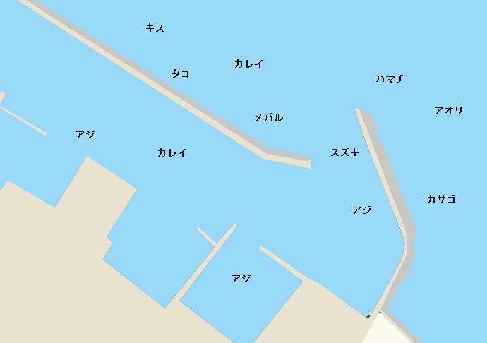仮屋漁港のポイント