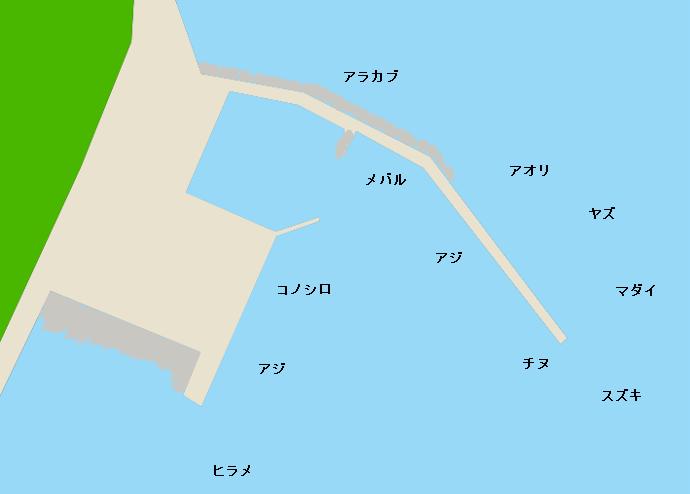 熊毛港ポイント図
