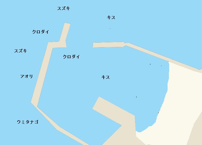 黒島漁港ポイント図