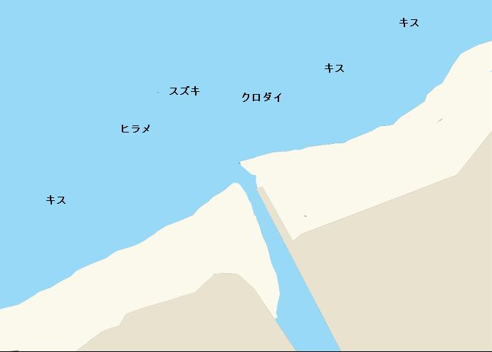 町野川河口ポイント図