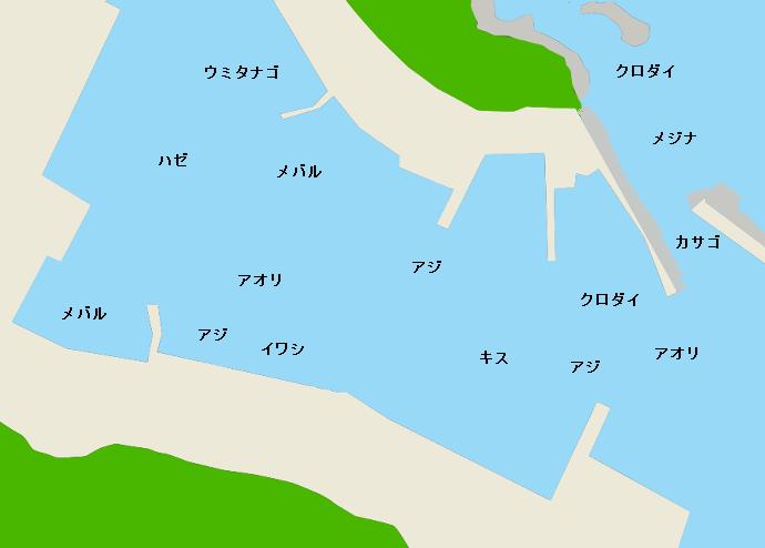 真鶴港ポイント図