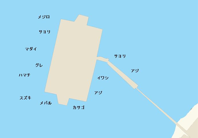 海釣り公園メガフロートポイント図