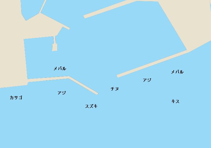 宮田漁港ポイント図