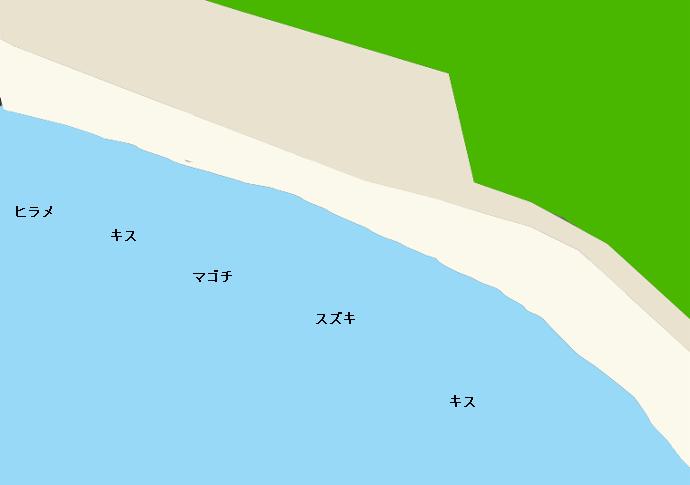 元猿海岸のポイント