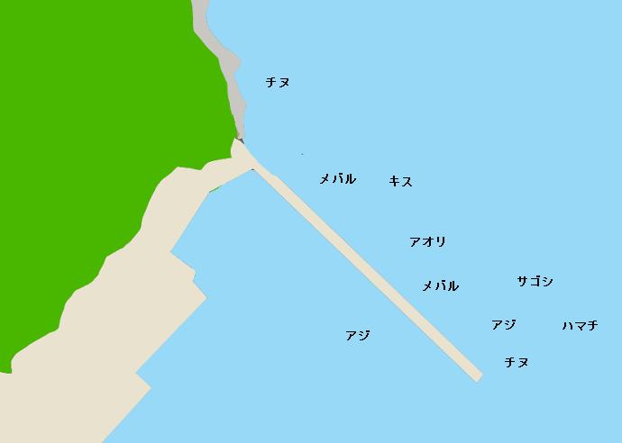 室津下漁港ポイント図