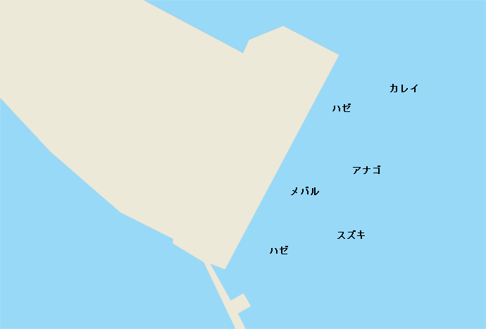 木更津中の島公園ポイント図
