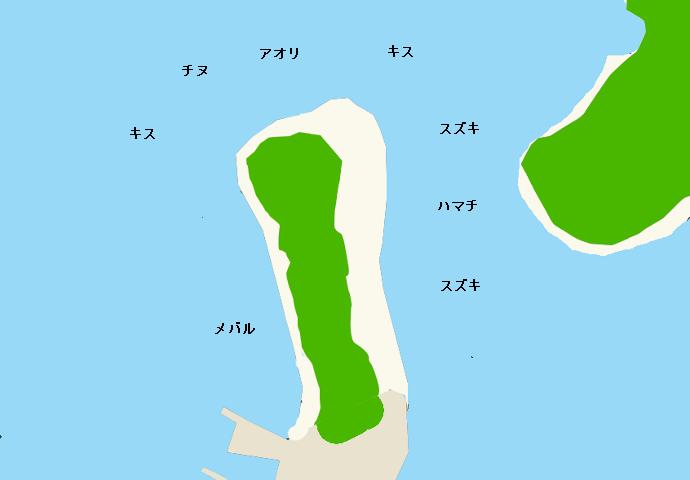 生石崎ポイント図