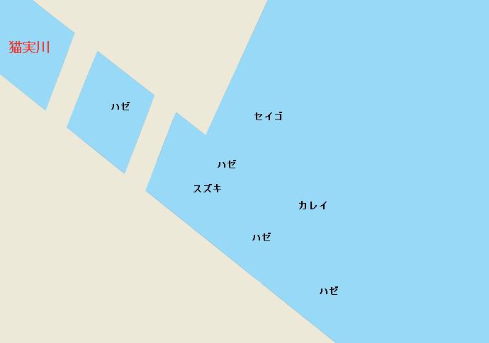 猫実川河口ポイント図