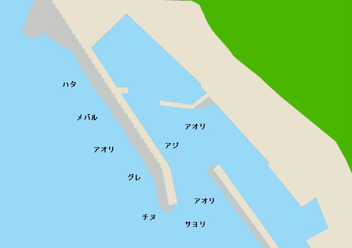 糠漁港ポイント図