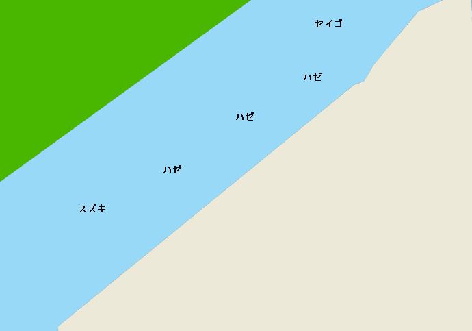 小櫃川河口ポイント図
