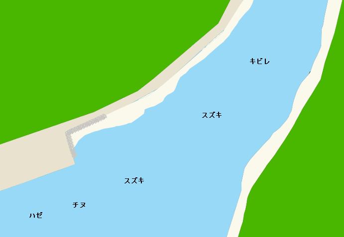 大宮地川河口ポイント図