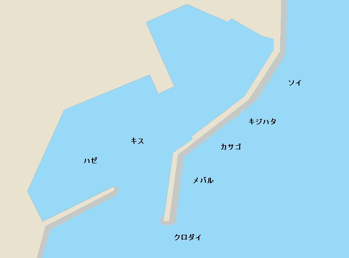 大境漁港ポイント図