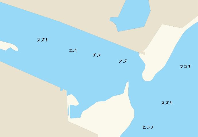 大瀬川河口ポイント図